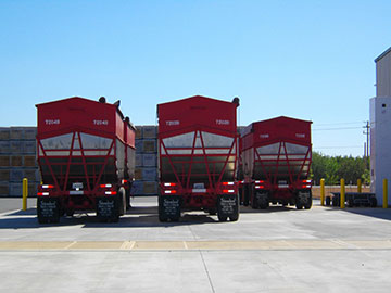 Trailers at Escalon plant