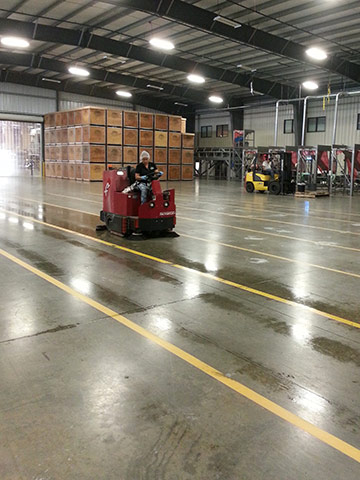 Goldriver s commitment to food safety is evident in plant for Floor zamboni machine